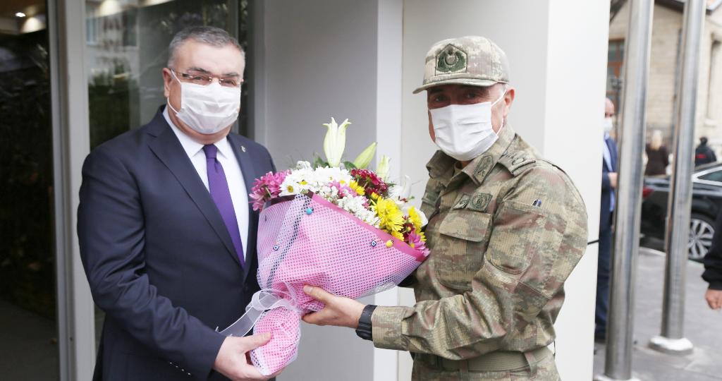Komutan Savran'dan Başkan Kesimoğlu'na Ziyaret.