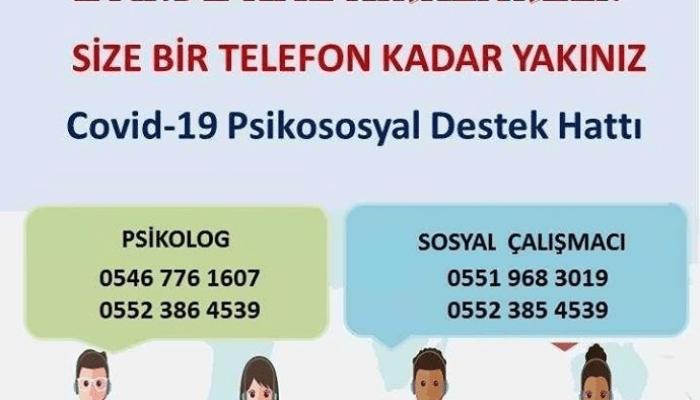 """COVİD – 19 PSİKOSOSYAL DESTEK HATTI """"EVİNDE KAL KIRKLARELİ"""""""